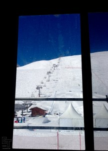 The office window view. Not bad but also a constant reminder of the pow that I was not shredding.