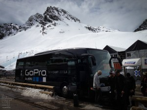 Wow. This is the bus that most of the crew took to get to Snow Camp